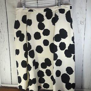 NWT  Who What Wear | Polka Dot Skirt | Sz 16